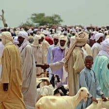 Nomads market in Africa