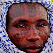 Retrato bororo en Chad