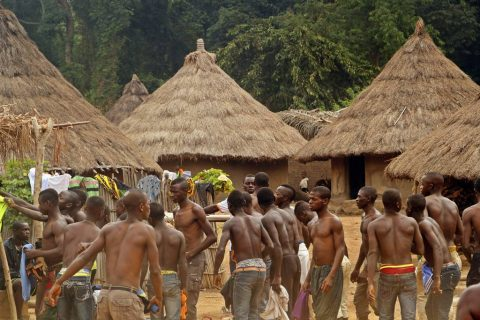 Stilt dance Ivory Coast