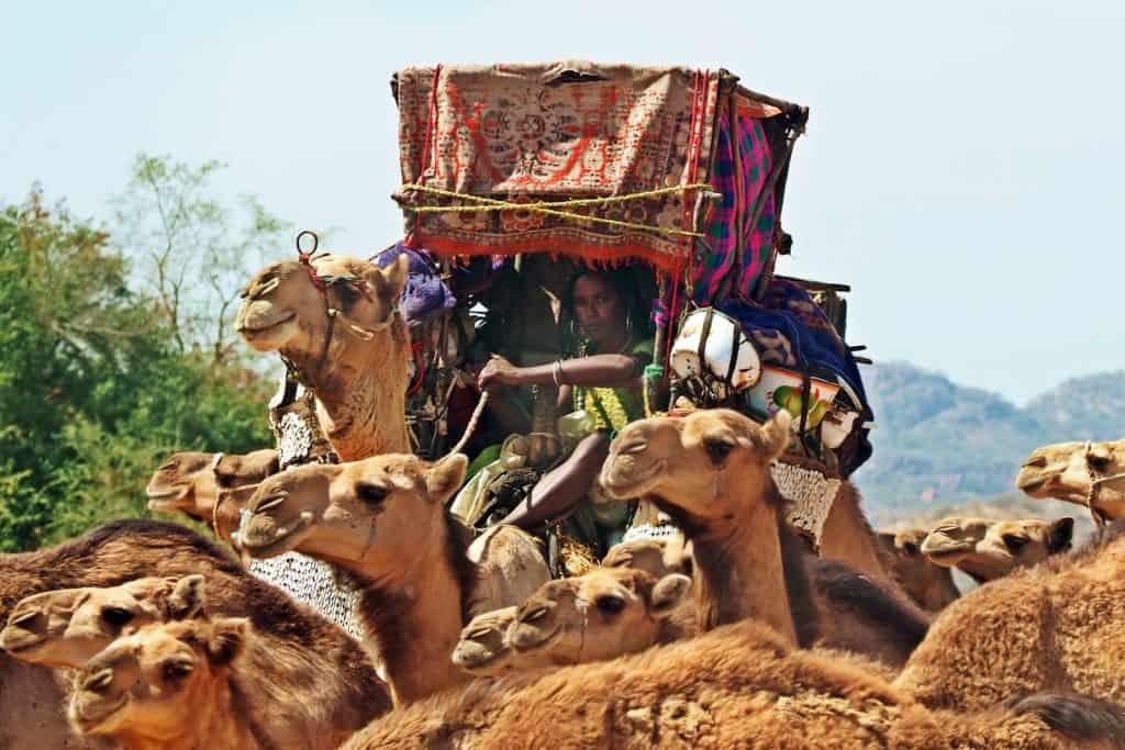 Mujer nomada arabe en Chad